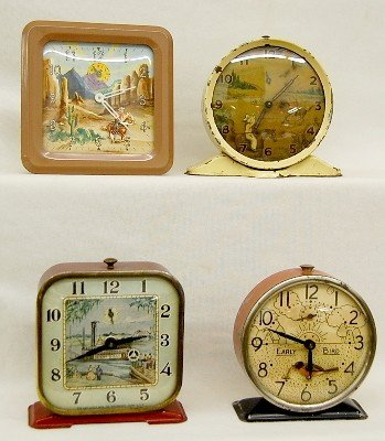 4 Animated Alarm Clocks Roy Rogers & Others