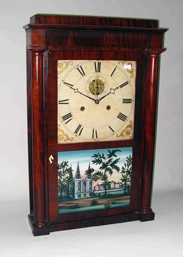 Shelf clock attributed to Silas B. Terry