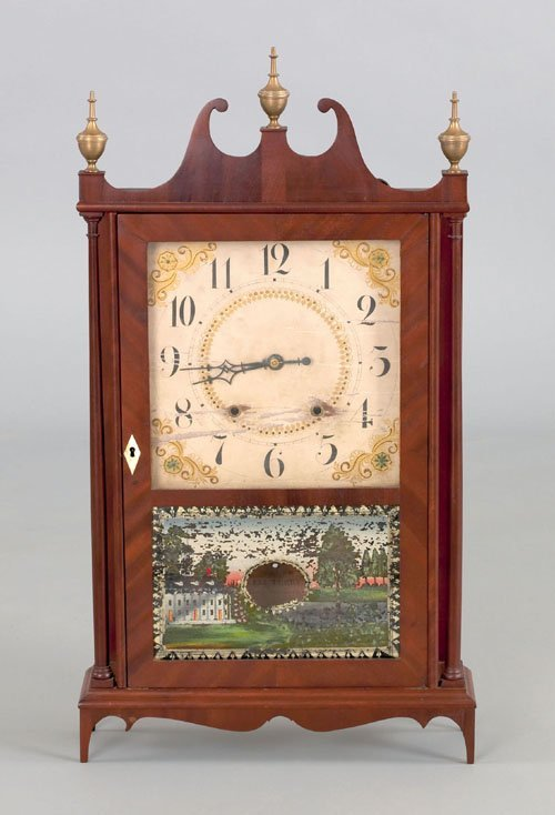 Eli Terry shelf clock, early 19th c.