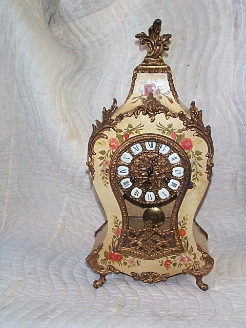 French Boulle style mantle/shelf clock with German