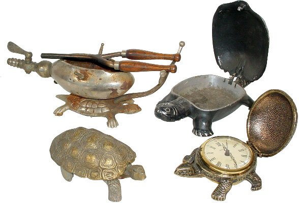 Bentley turtle alarm clock marked West Germany