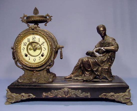 New Haven Octavius Figural Clock
